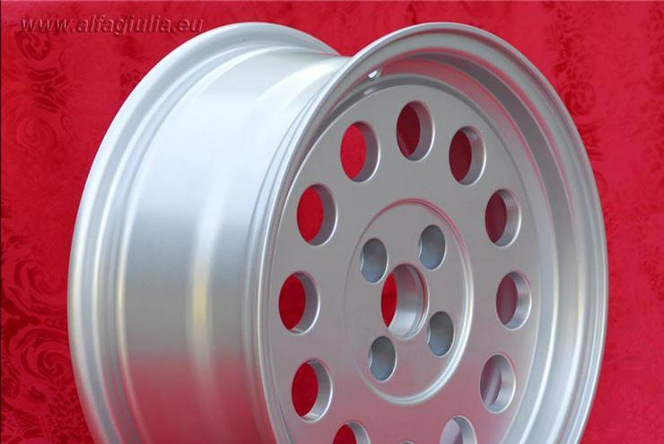 Bild 5: 4 Stk. Felgen Alfa Romeo GTV Fiat 124 131 7x15 ET25 4x98 TUV