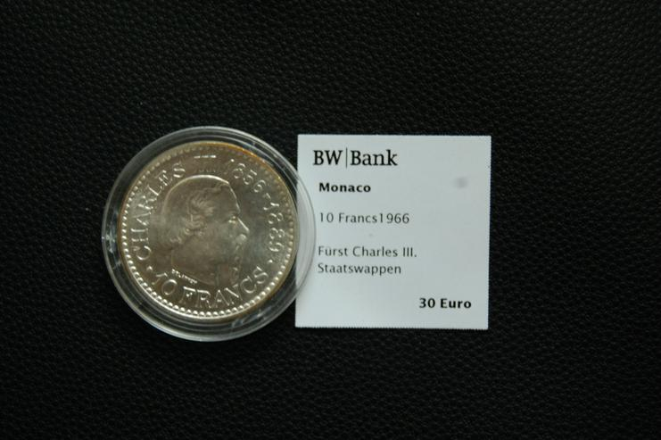 10 Francs Silber Monaco