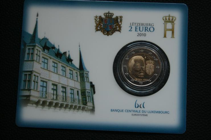 2 Euro Luxemburg in Coincard BU - 2010