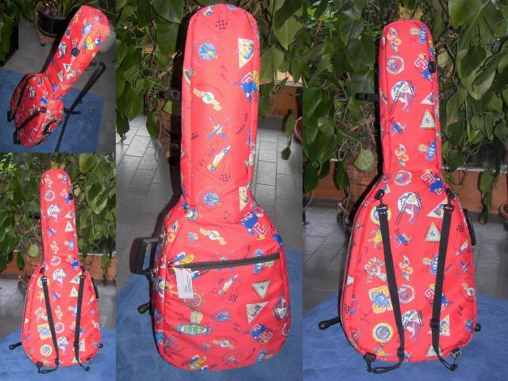 Dick gepolsterte rote Formel 1 Gitarrentasche / Gigbag für Konzertgitarre zu verkaufen