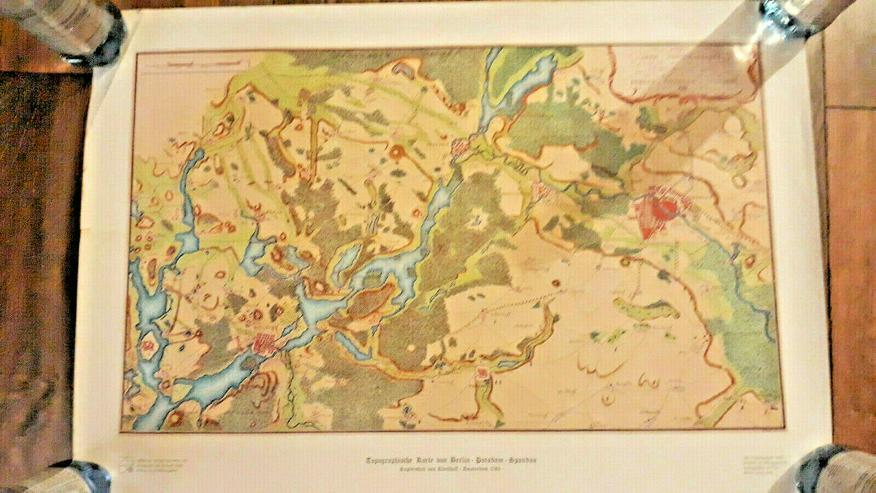 Topographische Karte Berlin-Potsdam-Spandau | anl. 750-Jahr-Feier 1987 | Rarität