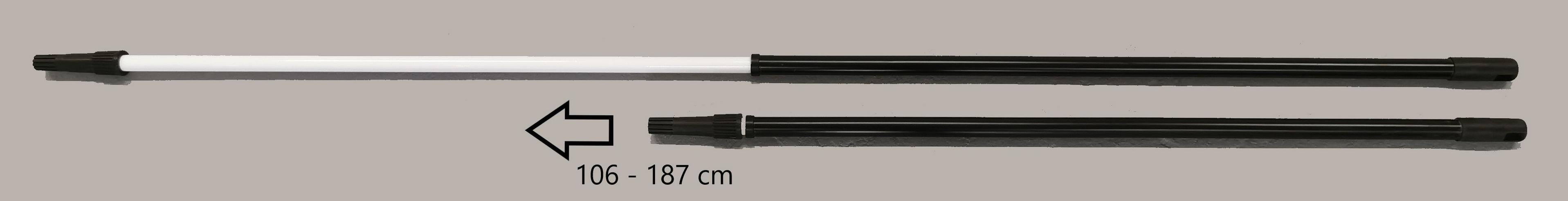 Aluminium Teleskopstange schwarz ausziehbar 106 - 187 cm