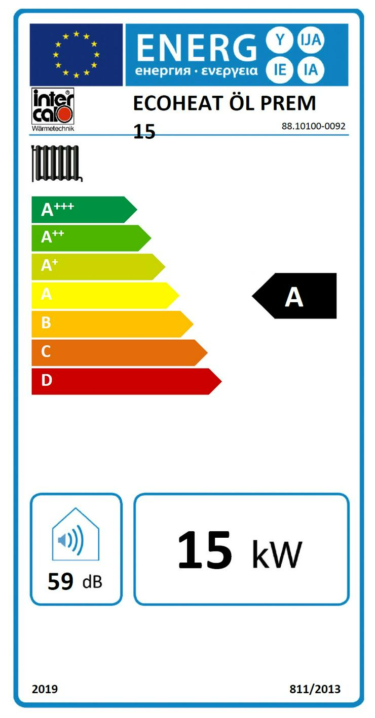 """Bild 4: 1A Öl Brennwert Heizung 15 kW Ecoheat """"Premium"""" von Intercal. Oel"""