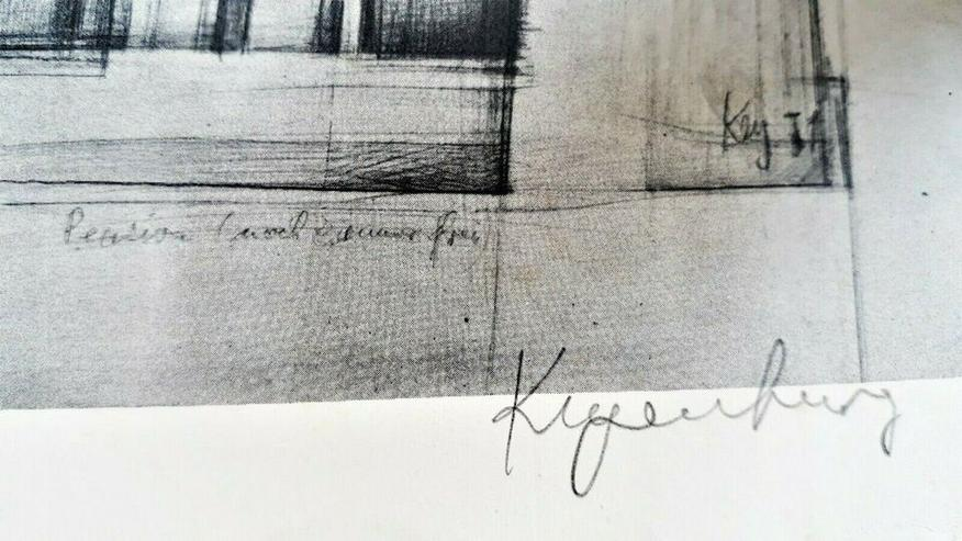 Bild 3: Strichzeichnung + Plakat Prof. H.J.Keyenburg, Lüdenscheid | RARITÄT 50 Jahre alt