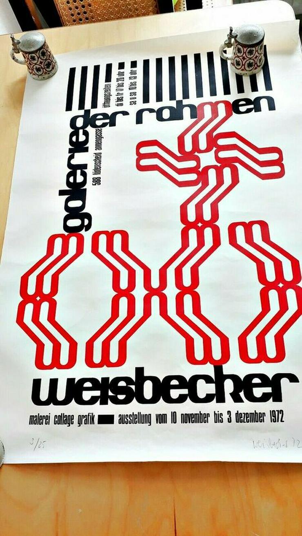 Bild 5: Strichzeichnung + Plakat Prof. H.J.Keyenburg, Lüdenscheid | RARITÄT 50 Jahre alt