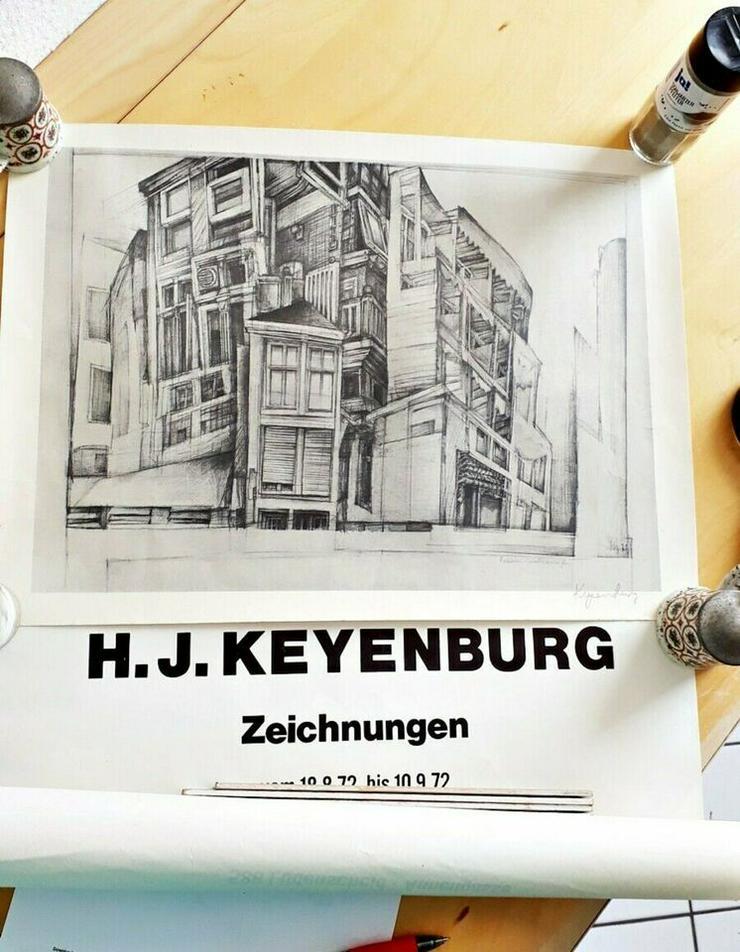 Strichzeichnung + Plakat Prof. H.J.Keyenburg, Lüdenscheid | RARITÄT 50 Jahre alt  - Gemälde & Zeichnungen - Bild 1