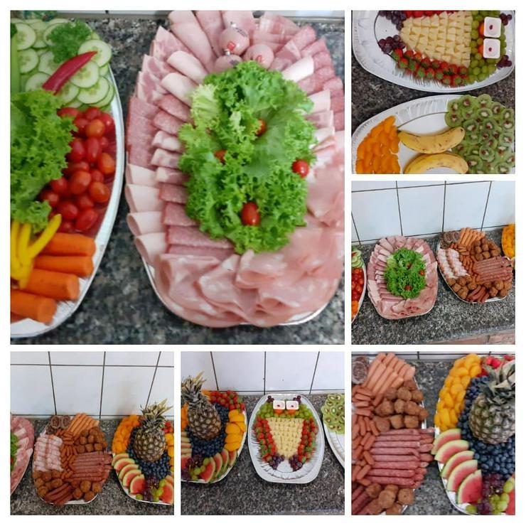 Belegte Platten Obst.Gemüse.Käse.Wurst und Fleischplatten