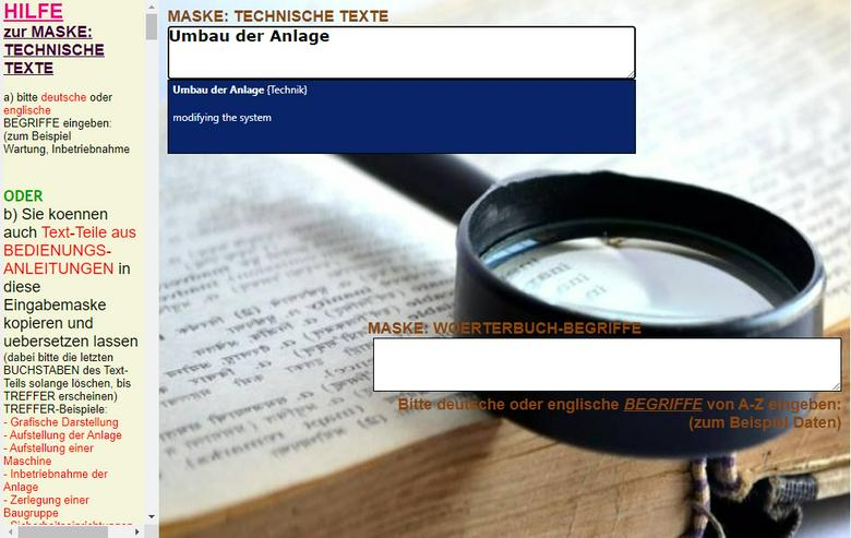 Leseproben: Englischsprachige Unterlagen/ Fremdsprachentexte uebersetzen
