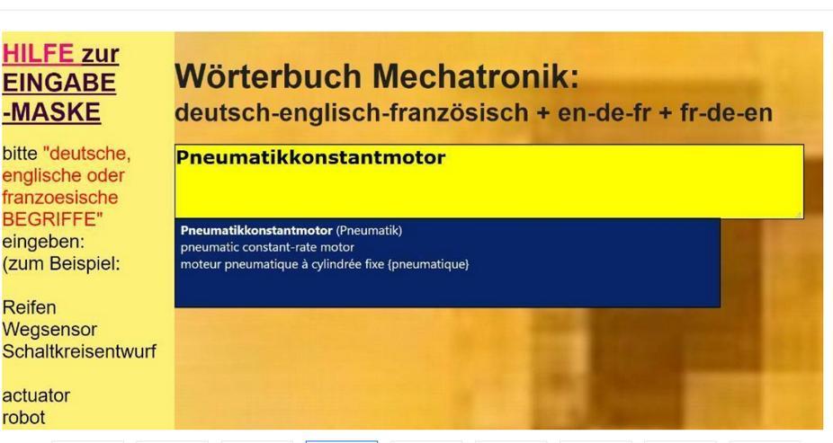 Technik Woerterbuch: Uebersetzung deutsch-englisch-franzoesisch