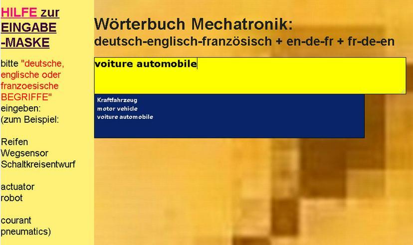 Bild 5: german-english-french translations/ glossary automotive