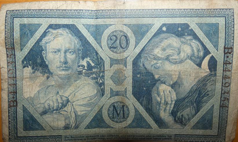 Bild 2: Banknoten 1912 bis1925