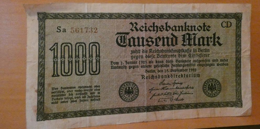 Banknoten 1912 bis1925