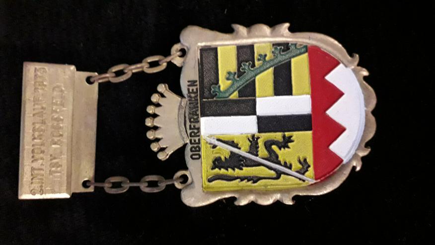 Sonder-Medaille Oberfranken 2. Internationaler Volkslauf 1973 - Anstecker & Wappen - Bild 1