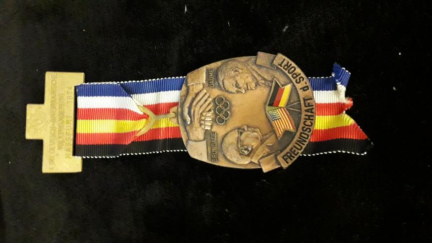 Sonder-Medaille Olympia Deutsch-Amerikanische Freundschaft 6. Internationale Volkswanderung 19741974