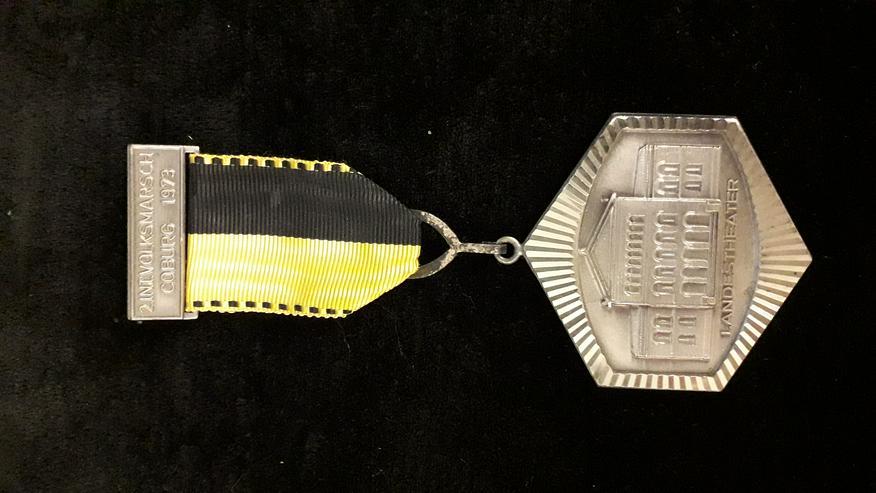 Wander-Medaille Landestheater Coburg 2. Internationaler Volksmarsch 1973