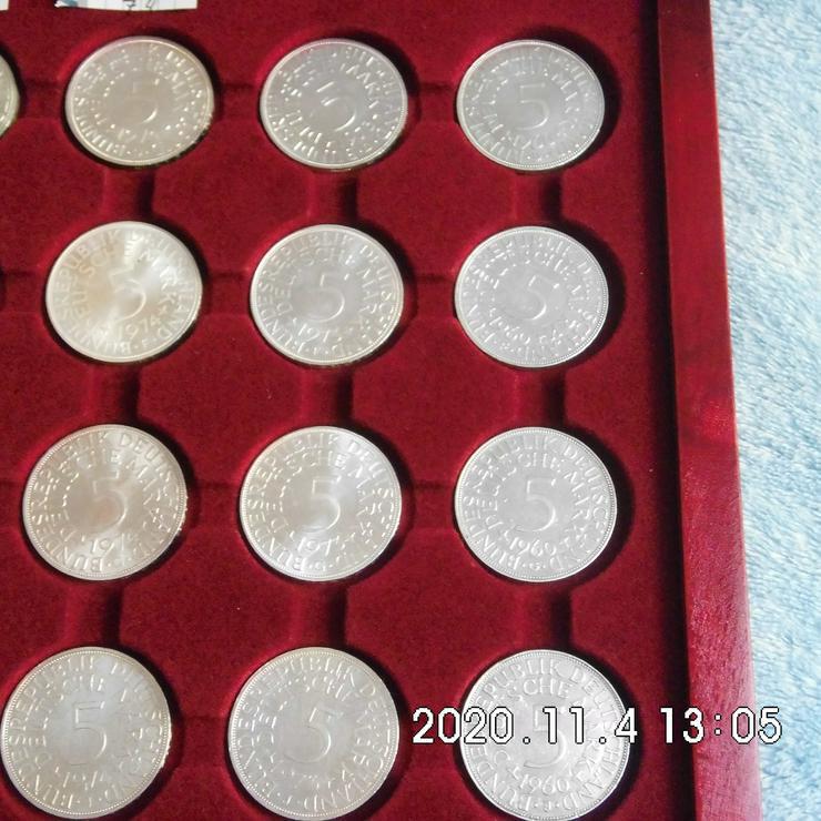 5 DM Silberadler 1960 VZ - Deutsche Mark - Bild 1