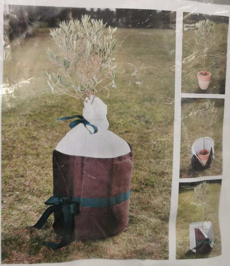 Xclou Pflanzenkübelschutz Ø60 cm, Höhe 85 cm, braun, Winterschutz