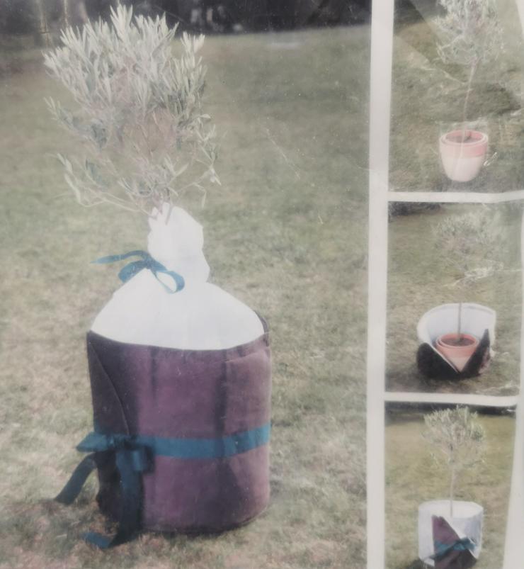 Xclou Pflanzenkübelschutz Ø45 cm, Höhe 45 cm, braun, Winterschutz