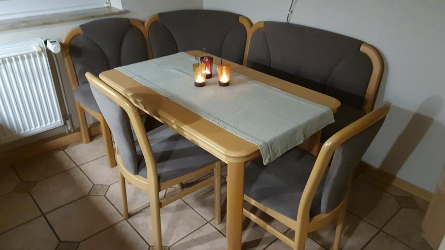 Moderne Eckbank + Tisch + 2 Stühle, Echtholz, sehr wertig, PREISSENKUNG!