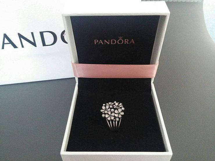 Cherry Blossom Bouquet Pandora Sterling Silver Pearl Ring in OVP