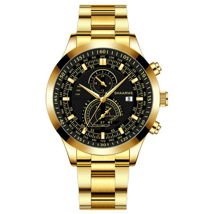 *NEU* Herren Armbanduhr mit Panzer-Armband *NEU* - Herren Armbanduhren - Bild 1