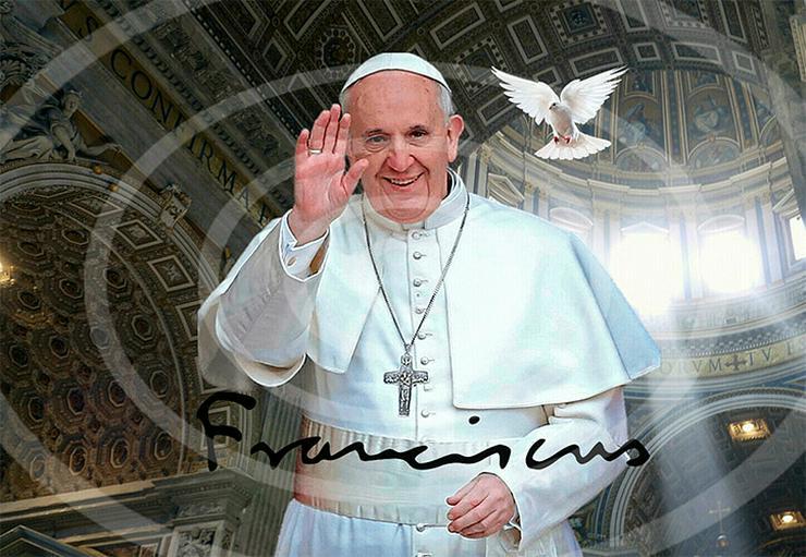 PAPST FRANZISKUS Vatikan Poster! Souvenir Deko Bild Geschenk Wandbild Starfoto  Andenken Dekoration Weihnachtsgeschenk