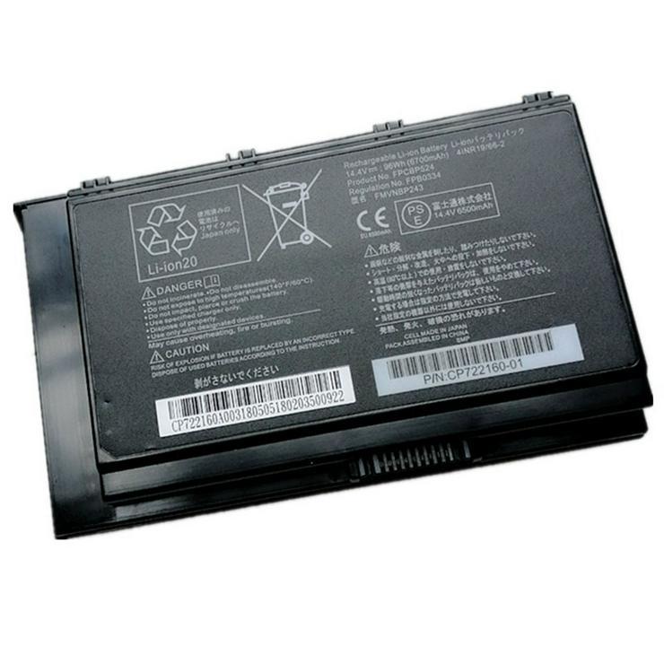 Akku für Fujitsu Celsius H980, 6700mAh/96Wh 14.4V FPCBP524 Batterien
