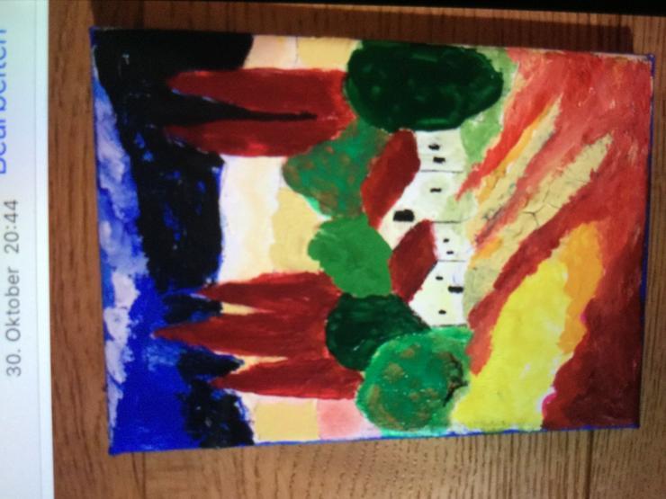 Bild 2: Gemalte Bilder als Geschenk