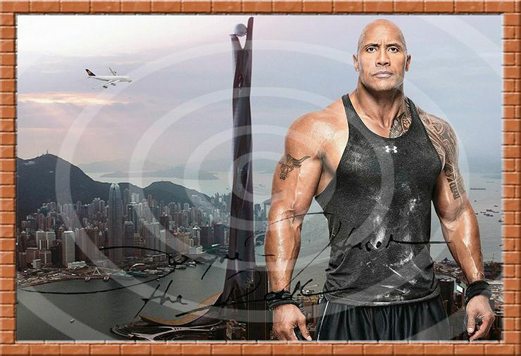 Bild 6: DWAYNE JOHNSON Hongkong Poster! Souvenir Deko Bild Geschenk Wandbild Starfoto  Andenken Dekoration Deko Selfie  Zimmerdeko Weihnachtsgeschenk