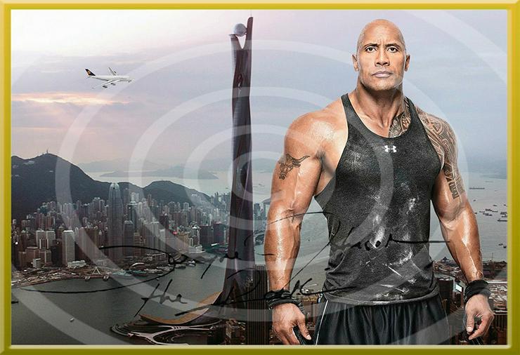 Bild 4: DWAYNE JOHNSON Hongkong Poster! Souvenir Deko Bild Geschenk Wandbild Starfoto  Andenken Dekoration Deko Selfie  Zimmerdeko Weihnachtsgeschenk
