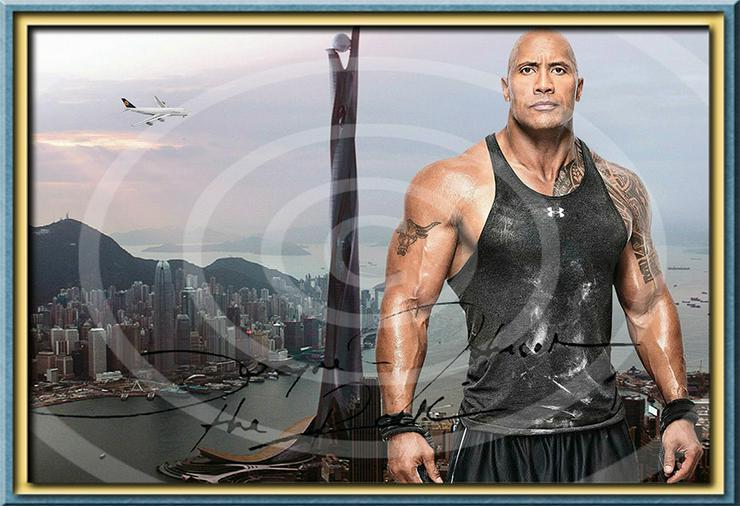 Bild 3: DWAYNE JOHNSON Hongkong Poster! Souvenir Deko Bild Geschenk Wandbild Starfoto  Andenken Dekoration Deko Selfie  Zimmerdeko Weihnachtsgeschenk