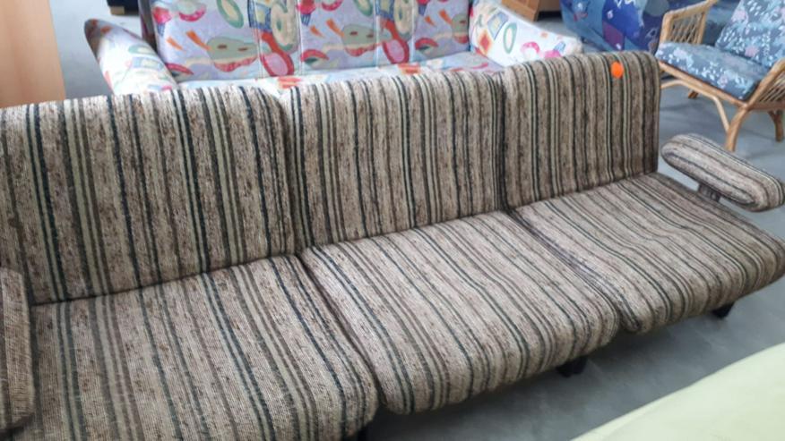Sofa/Couch, Stoff mit Streifenmuster, für 3 Personen