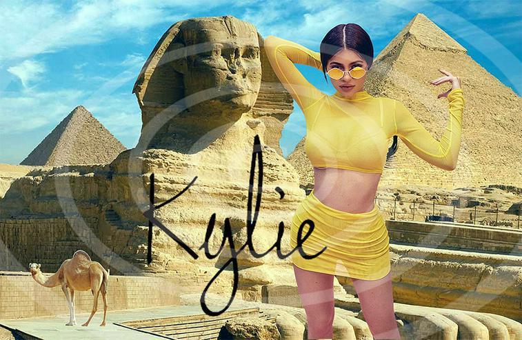 KYLIE JENNER Ägypten Poster! Souvenir Deko Bild Geschenk Wandbild