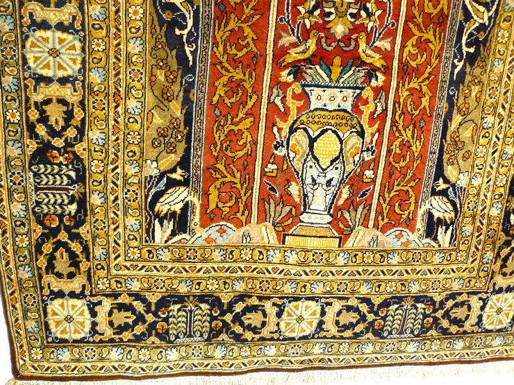 Bild 4: Orientteppich Ghom mit Seide 155x110 (T036)