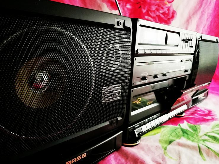 Das Kultgerät aus den 80zigern ,  der Ghettoblaster SHARP X Bass GX-CD60H(BK) !