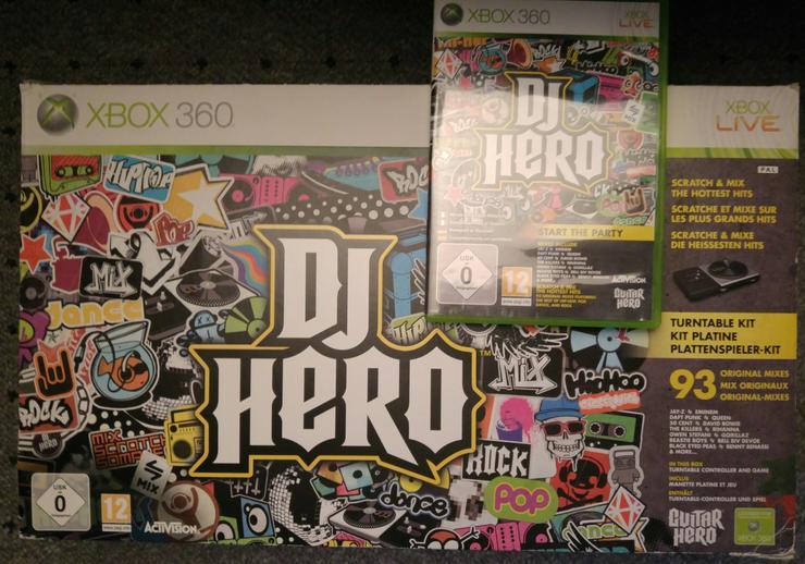 DJ Hero + CD Xbox 360 gebraucht