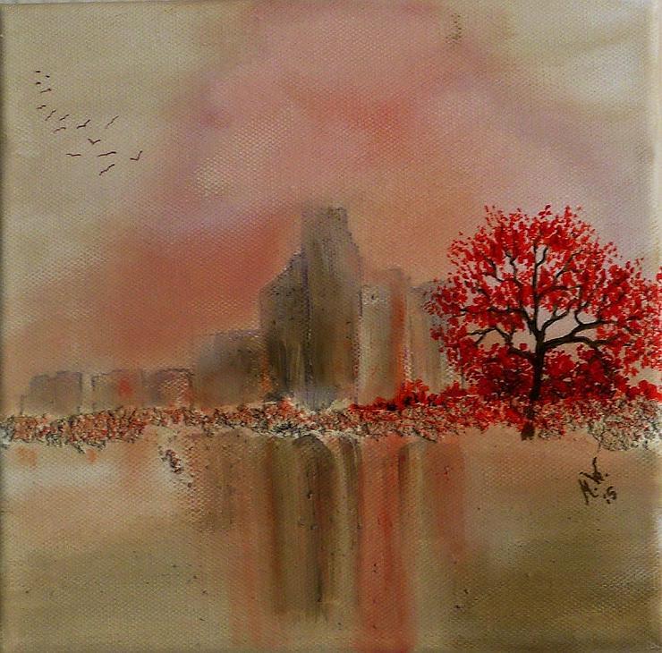 """""""Stille 2"""" - Gemälde in Acryl auf Leinwand mit Struktur - UNIKAT"""