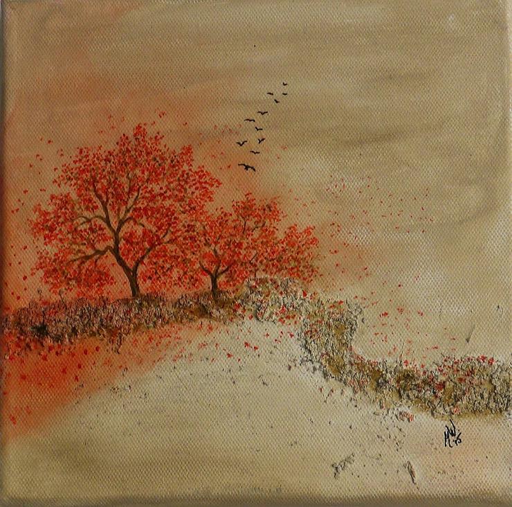 """""""Stille 3"""" - Gemälde in Acryl auf Leinwand mit Struktur - UNIKAT"""