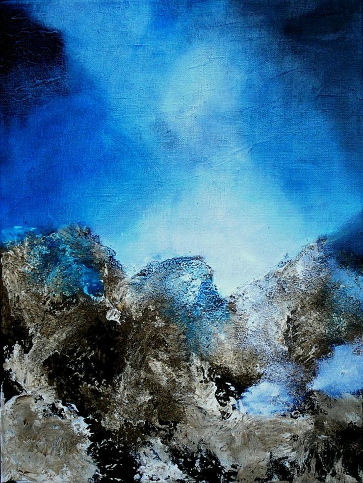 """""""Magischer Himmel 2"""" - Gemälde in Öl auf Leinwand mit Struktur - UNIKAT"""