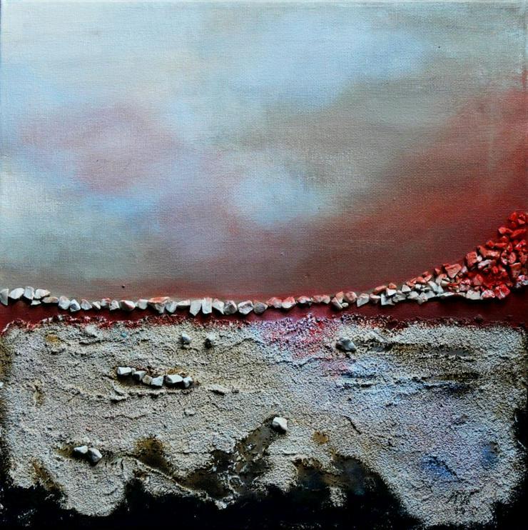 """""""Zeitgeist 2"""" - Gemälde in Acryl auf Leinwand mit Sand und Steinen - UNIKAT"""