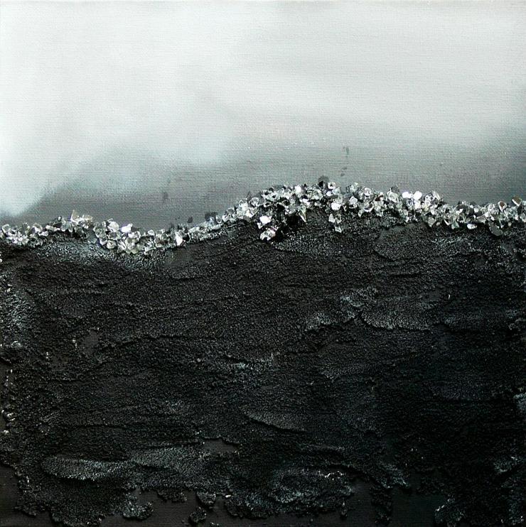 """""""Zeitgeist 3"""" - Gemälde in Acryl auf Leinwand mit Sand und Steinen - UNIKAT"""