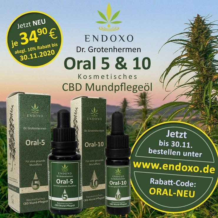 Oral-5, 20 ml Kosmetisches Mund-Pflegeöl  mit CBD, 20 ml