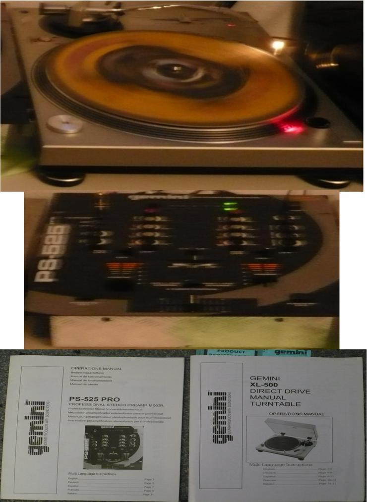 1x Gemini Plattenteller XL-500 + 1 Gemini Mixtable PSP-525
