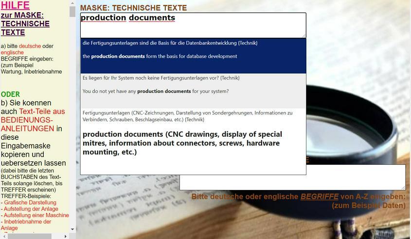 Englische + deutsche Technikdokumentation (Dokument, Produktinformation) uebersetzen - Wörterbücher - Bild 2