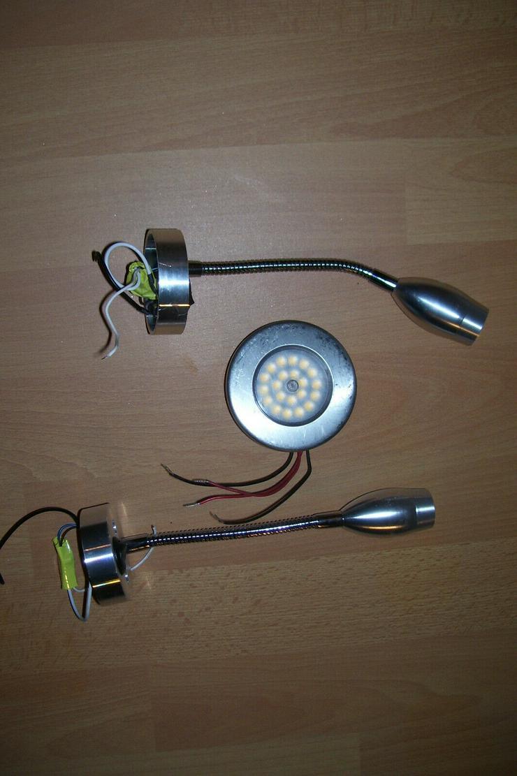Wohnmobil Schwanenhals Leuchten LED und eine Einbauleuchte