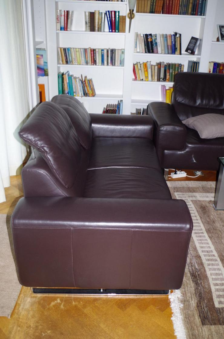 Designer Glattleder Sofa hochwertig neuwertig  TOP