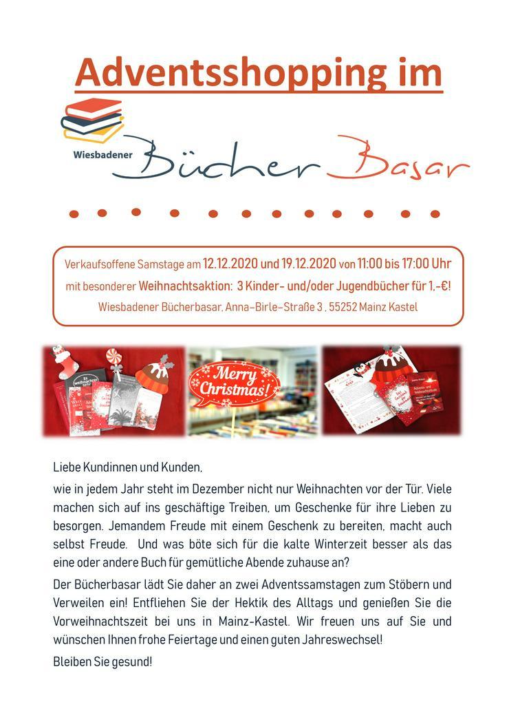 Adventsshopping im Wiesbadener Bücherbasar