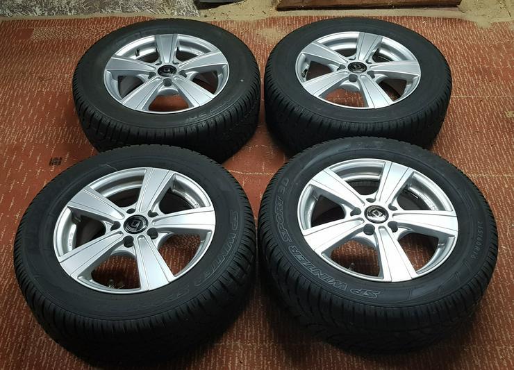 Neuwertige Winterräder Aluminium mit Dunlop-Reifen