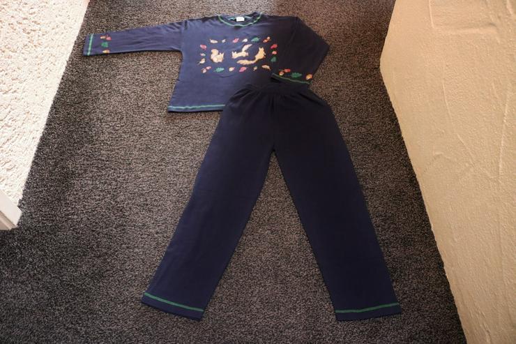 Schlafanzug, Gr. 140, dunkelblau