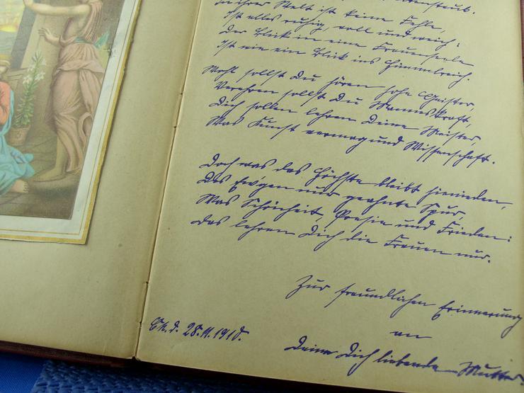 Bild 3: Altes Poesiealbum mit Einträgen ab 1910